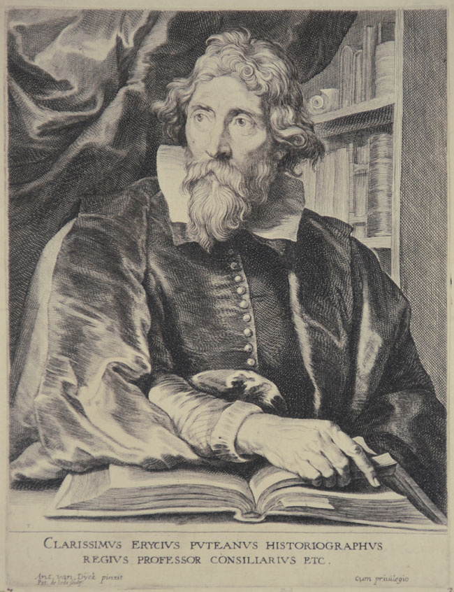 Erycius Puteanus (1574 – 1646). Portrait par Anthony Van Dyck, vers 1675.