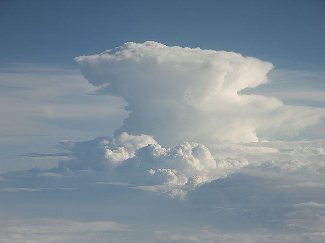 Voorbeeld van een cumulonimbus