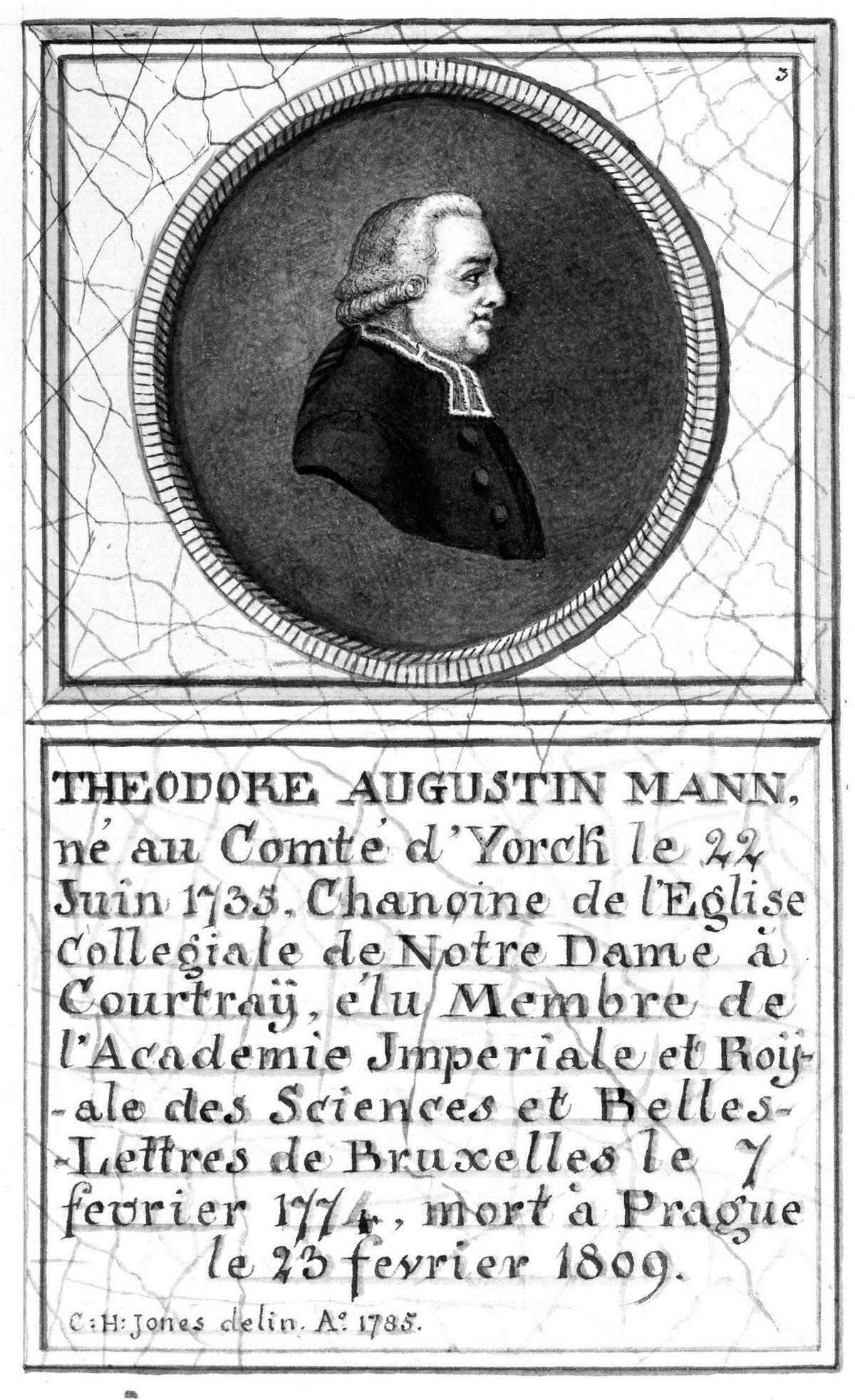 Théodore-Augustin Mann, prior van het Engelse Kartuizerklooster in Nieuwpoort