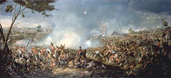 De slag bij Waterloo op 18 juni 1815.