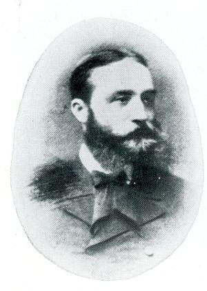 Francois Van Rysselberghe (1846-1893), grondlegger van de synoptische weervoorspelling in België.(Bron: SKETCH HISTORY OF METEORLOGY IN BELGIUM, DR. L. Dufour)