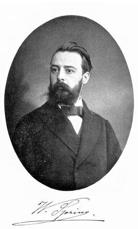 Walthère Spring (1848-1911), professor aan de Universiteit te Luik en voorloper van de relatie tussen het broeikaseffect en de (lokale) opwarming. (Copyright bron: Koninklijke Academie voor Overzeese Wetenschappen)
