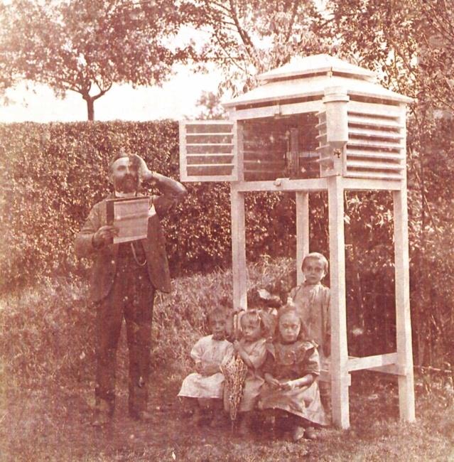 M. Lacrosse observateur de la station de Thimister en 1904. Edmond Bragard