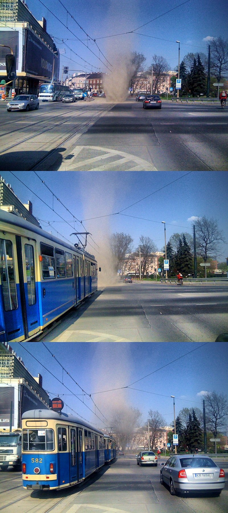 Dust devil à Krakovie (Pologne). Source: KHRoN (Own work)