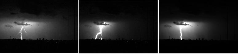 Foto van blikseminslag