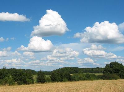 Voorbeeld van een cumulus mediocris.