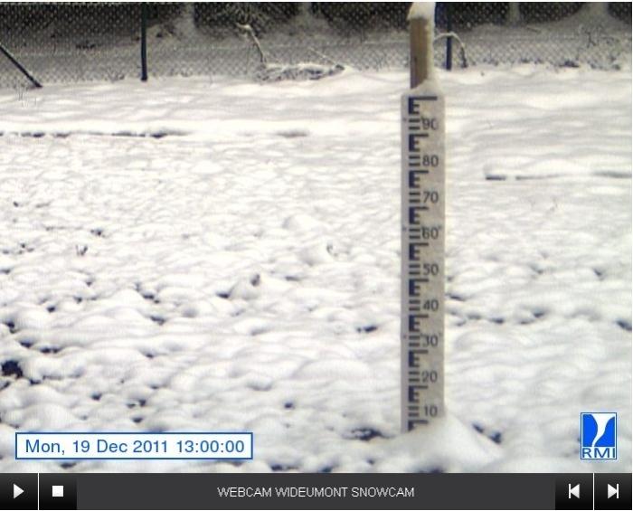 Une snowcam à Wideumont - IRM